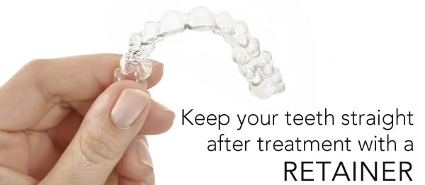 wearing a retainer will keep your teeth straight