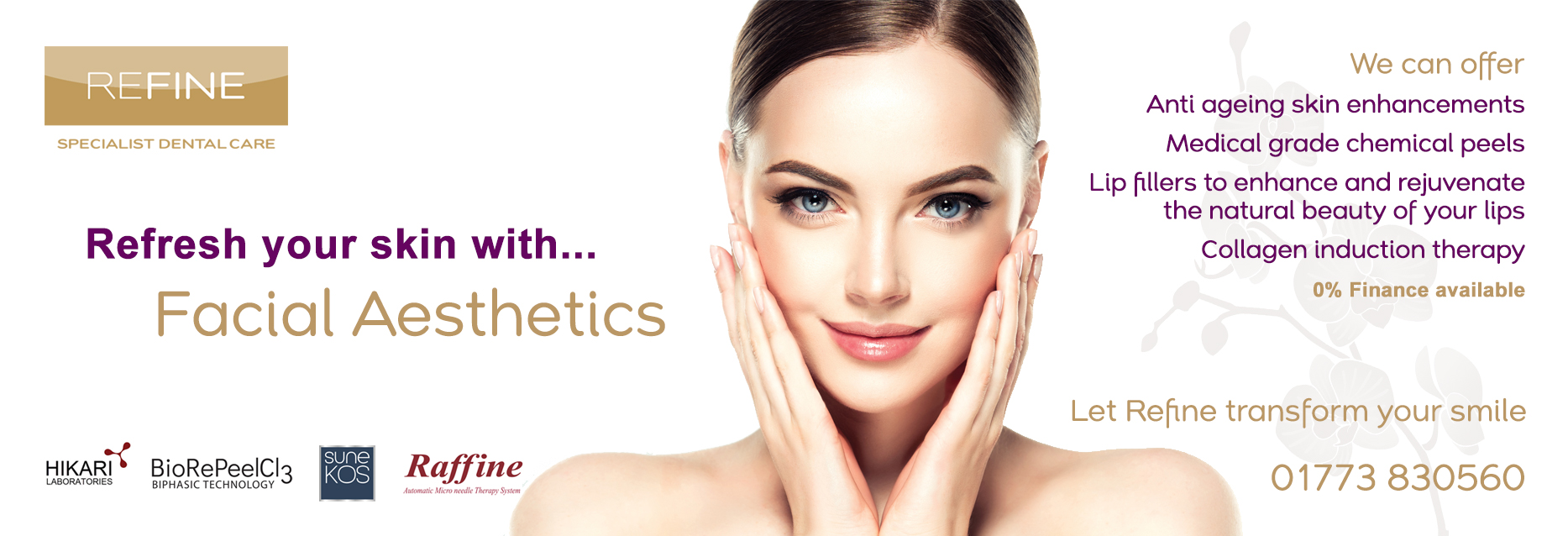 facial aesthetics at Refine Specialist Dental Care